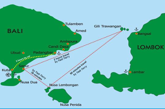 Bali, Lembongan and Lombok