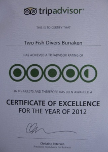 Certificate of Excellence in Bunaken