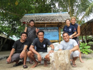 Beach clean up on Bunaken